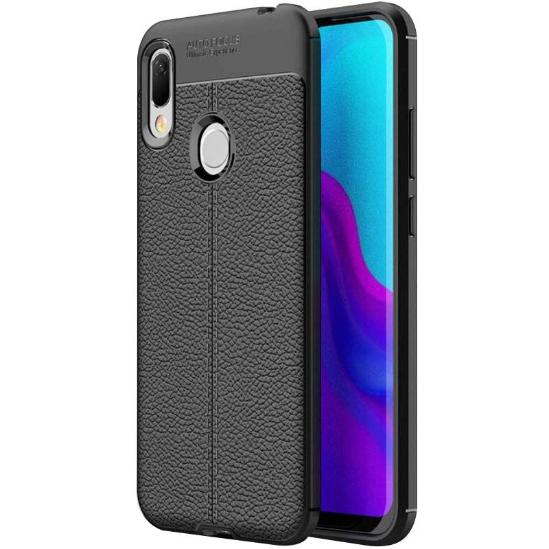 TPU чехол фактурный (с имитацией кожи) для Huawei Y6s (2019)