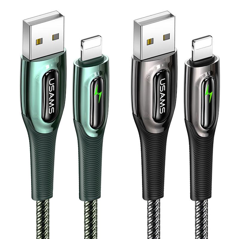 Дата кабель USAMS US-SJ470 Raydan Series USB to Lightning Smart Power-off Cable (2m)