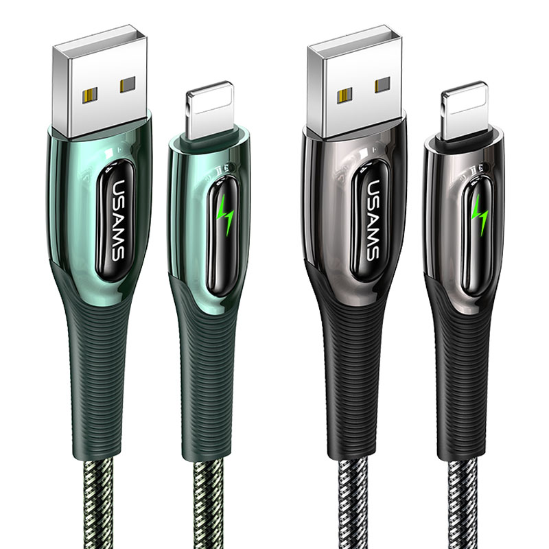 Дата кабель USAMS US-SJ469 Raydan Series USB to Lightning Smart Power-off Cable (1.2m)
