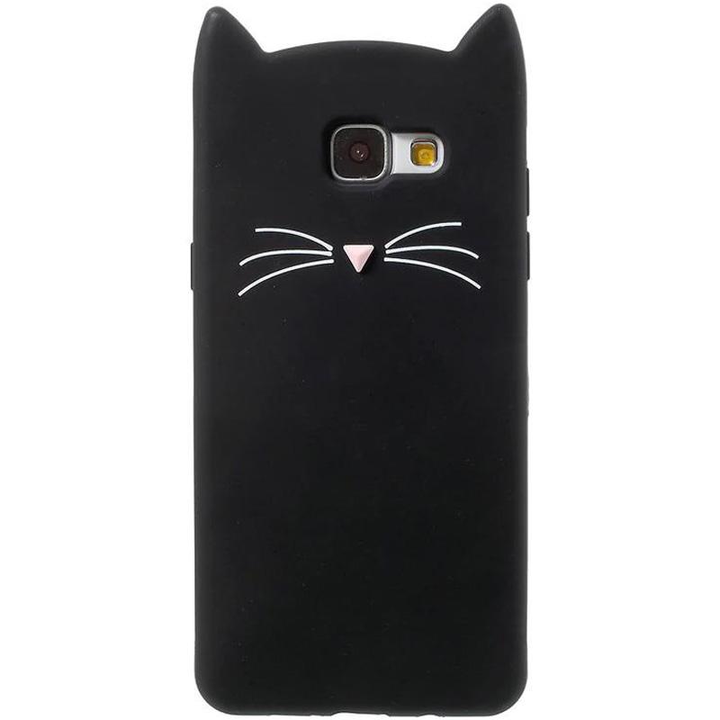 Силиконовая накладка 3D Cat для Samsung A320 Galaxy A3 (2017)