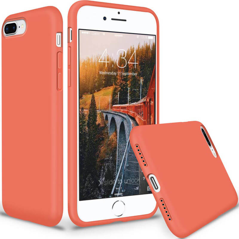 "Чехол Slim Silicone case full protective для Apple iPhone 8 plus (5.5"")"