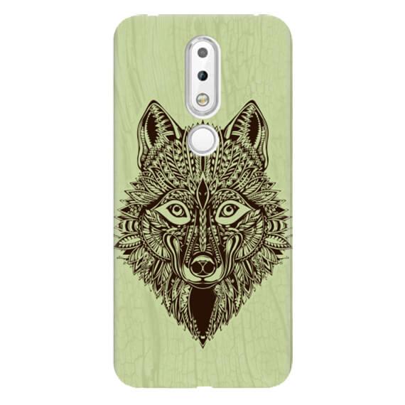 Чехол Wolf Pattern для Nokia 6.1 Plus (Nokia X6)