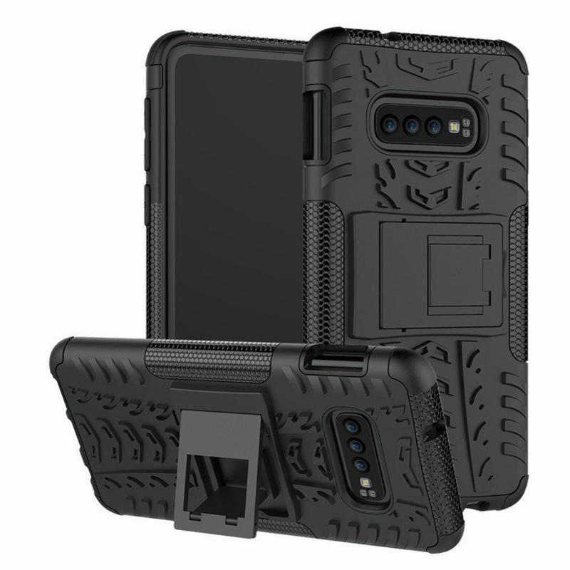 Противоударный двухслойный чехол Shield для Samsung Galaxy S10e с подставкой
