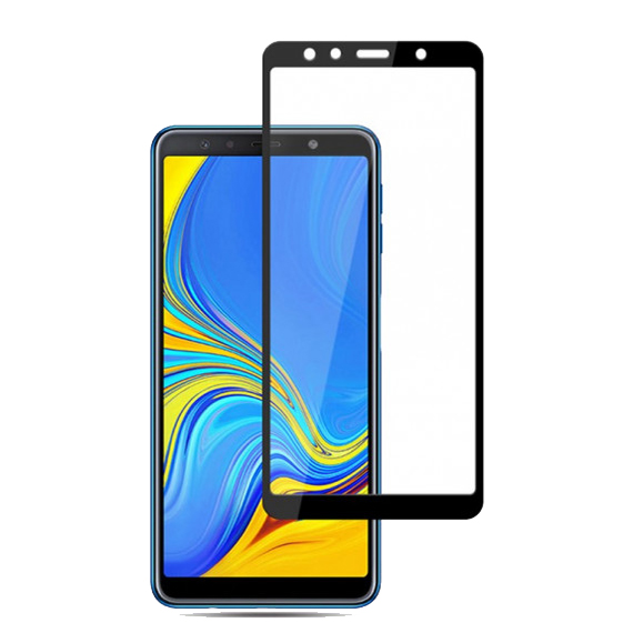 Защитное стекло Zifriend 5D Full Face (full glue) для Samsung A750 Galaxy A7 (2018)