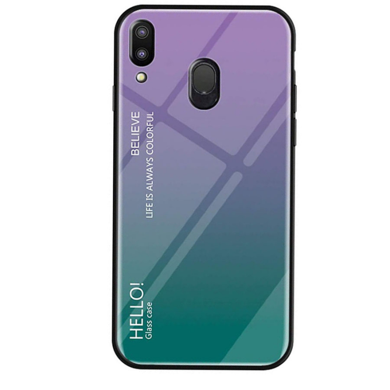 TPU+Glass чехол Gradient HELLO для Samsung Galaxy M20