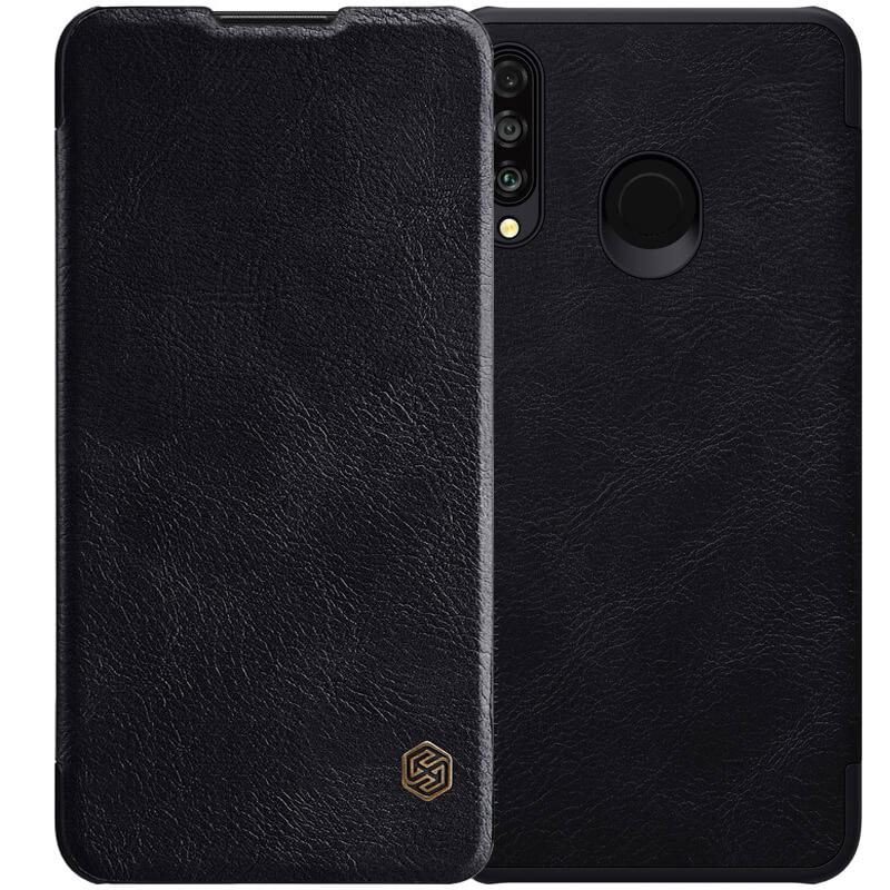 Кожаный чехол (книжка) Nillkin Qin Series для Huawei P30 lite