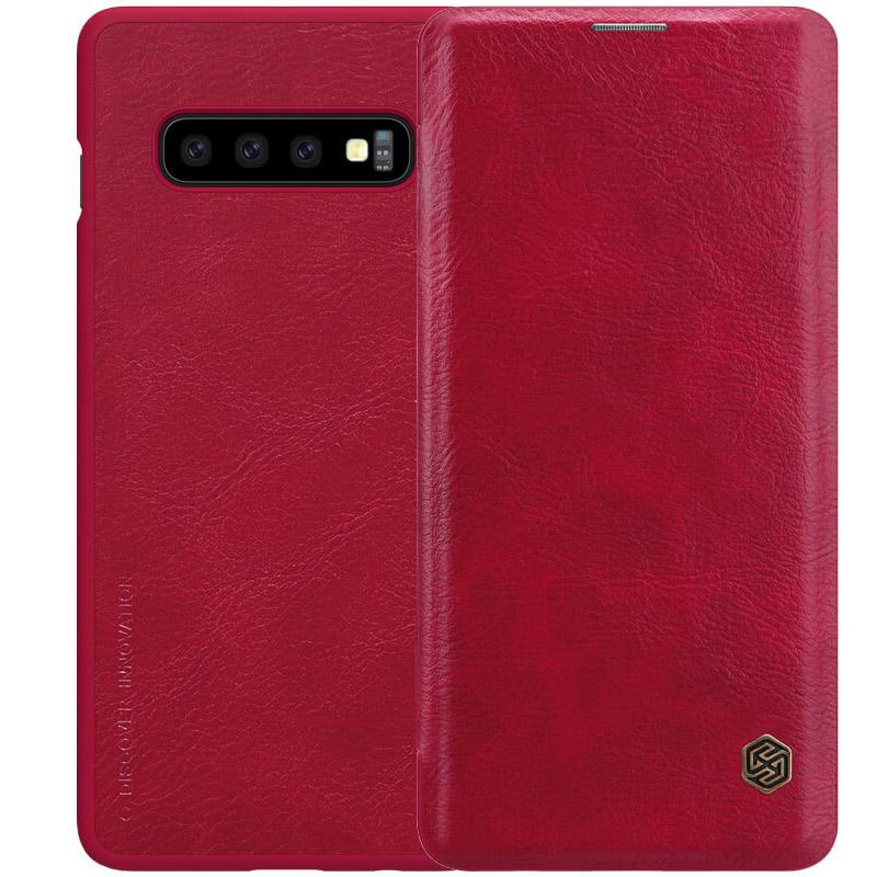 Кожаный чехол (книжка) Nillkin Qin Series для Samsung Galaxy S10+
