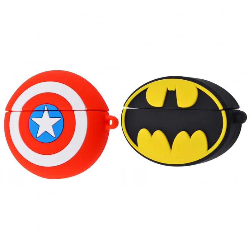 Силиконовый футляр Marvel & DC series для наушников AirPods Pro + карабин