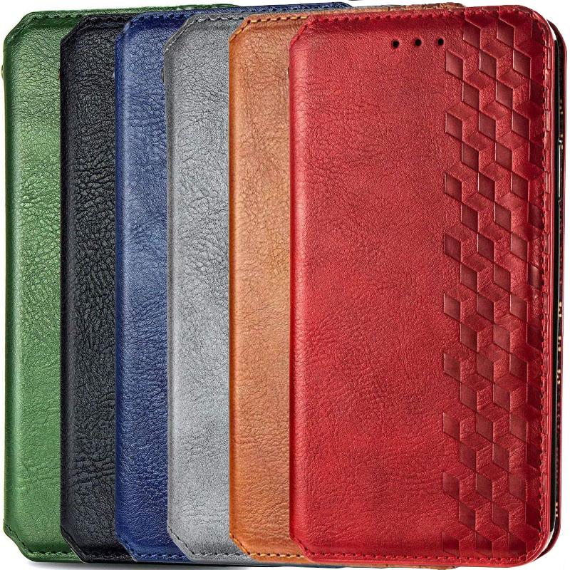 Кожаный чехол книжка GETMAN Cubic (PU) для Xiaomi Redmi Note 9s / Note 9 Pro / Note 9 Pro Max