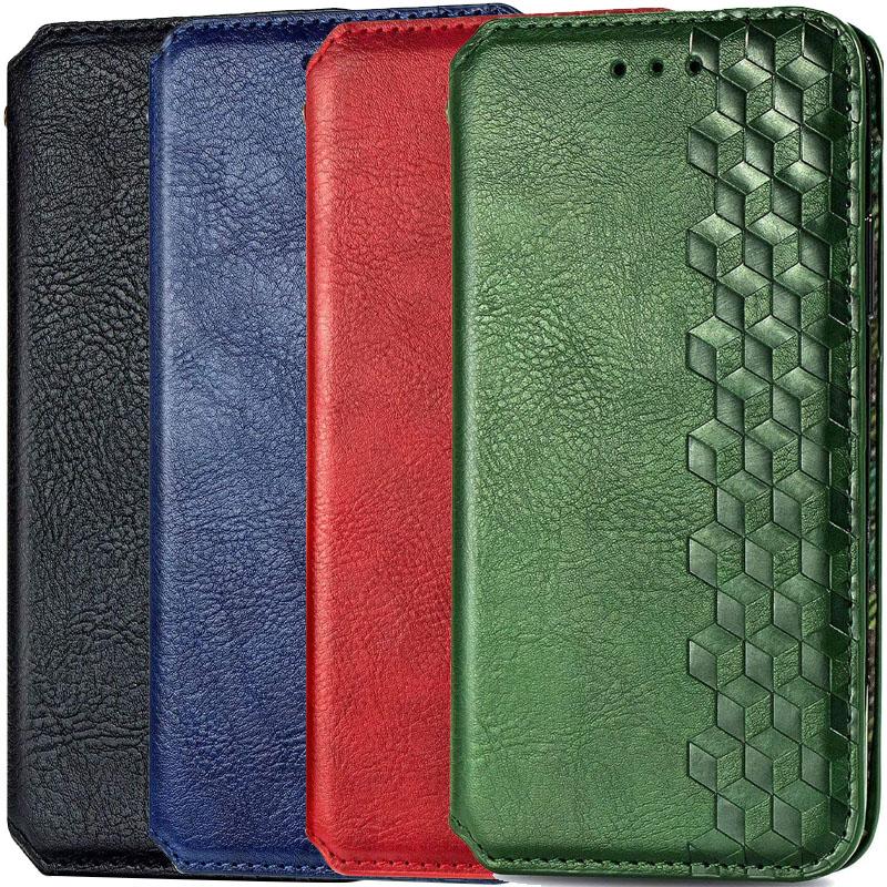 Кожаный чехол книжка GETMAN Cubic (PU) для Huawei Y6p