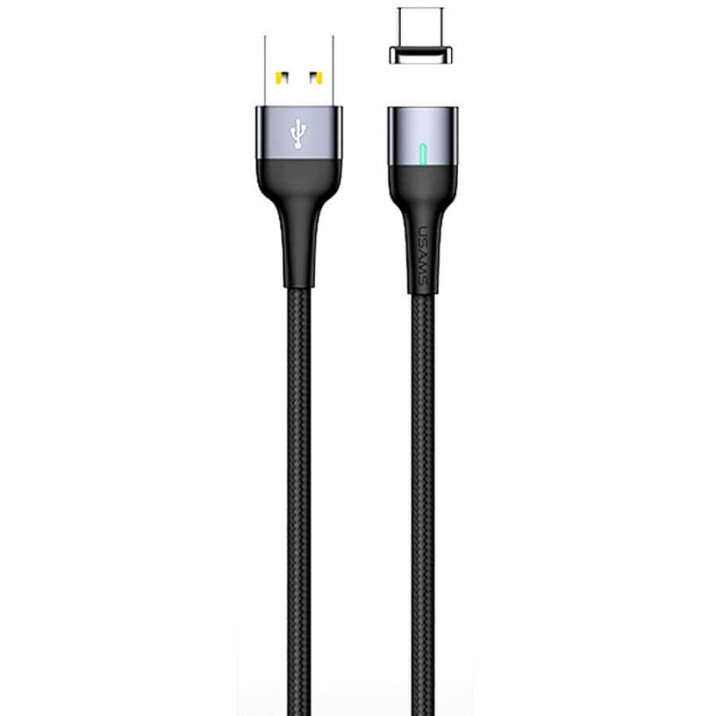 Дата кабель USAMS US-SJ328 U28 Magnetic USB to MicroUSB (1m) (3A)