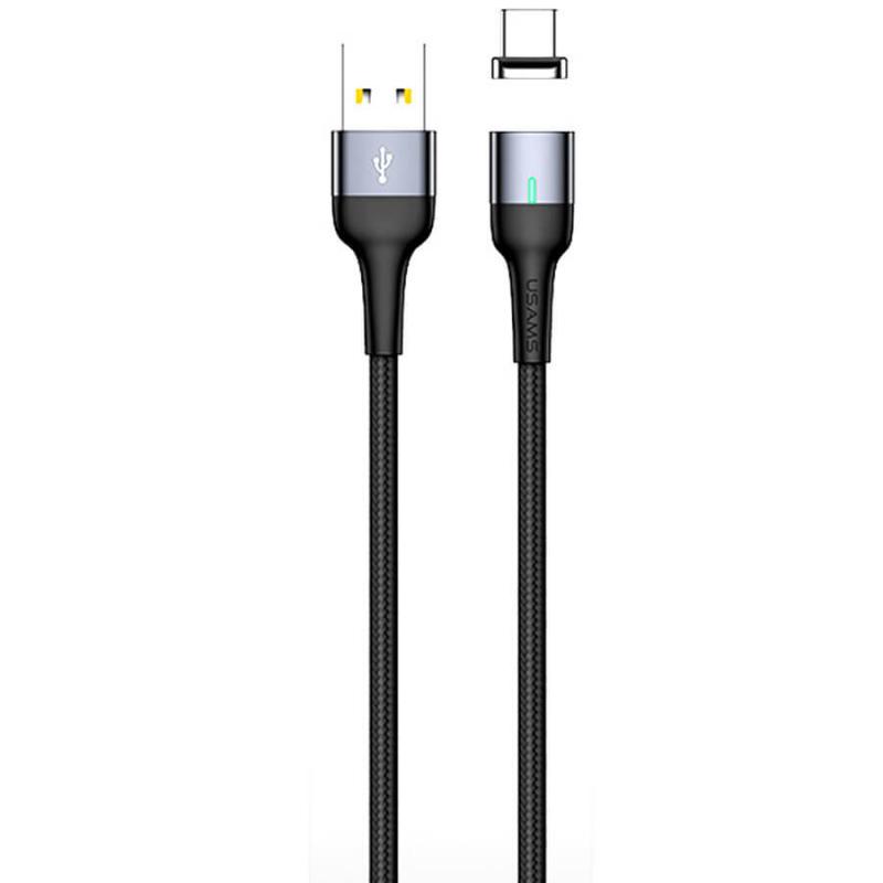 Дата кабель USAMS US-SJ327 U28 Magnetic USB to Type-C (1m) (3A)