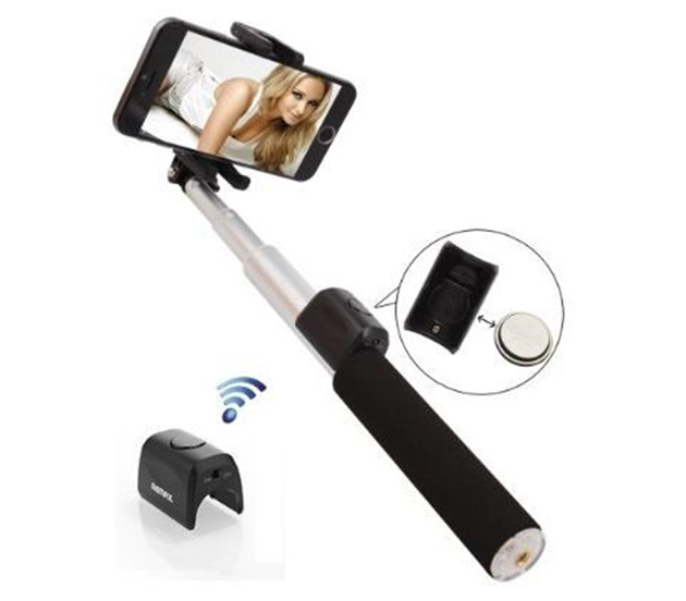 Телескопический монопод Remax P4 для селфи (Bluetooth) (30см - 100см)