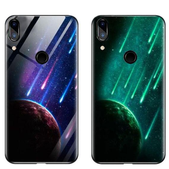 TPU+Glass чехол светящийся в темноте для Huawei Nova 3