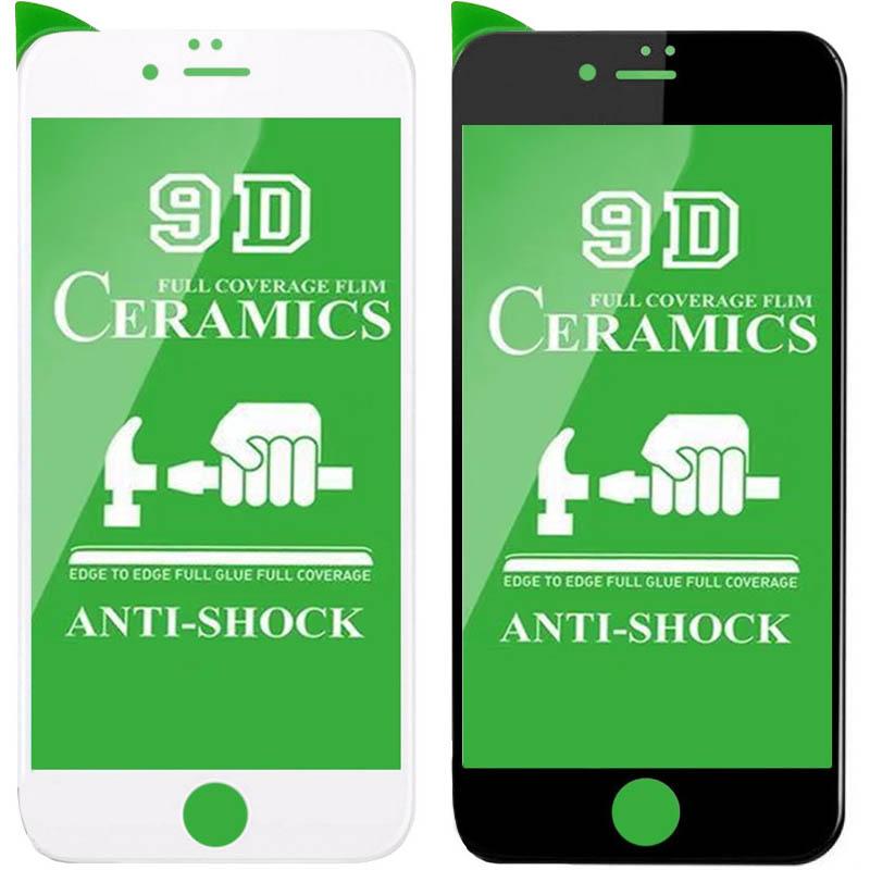 """Защитная пленка Ceramics 9D (без упак.) для Apple iPhone 8 plus (5.5"""")"""