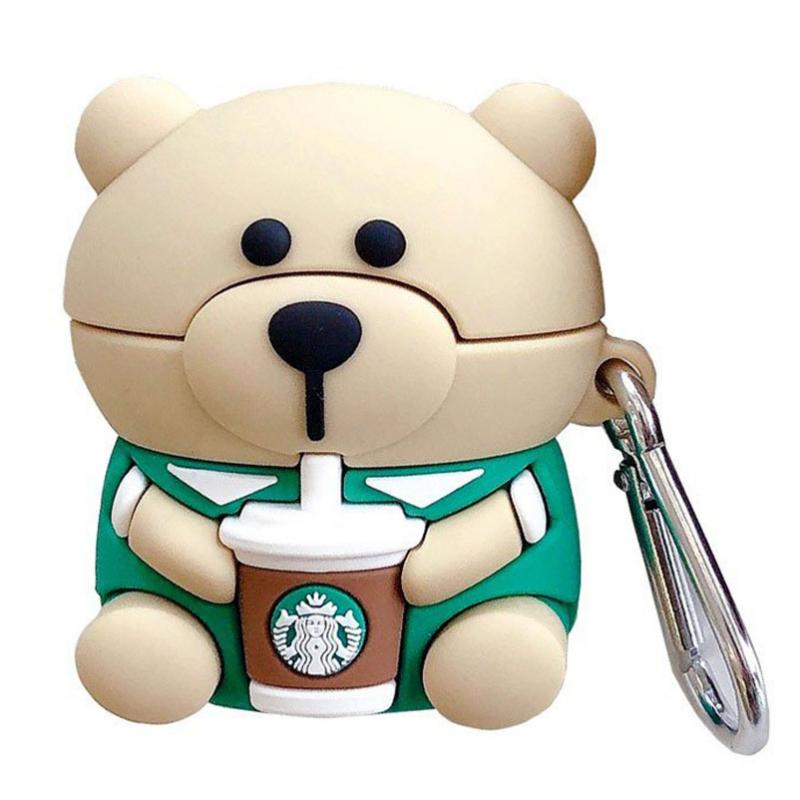Силиконовый футляр Teddy Bear для наушников AirPods
