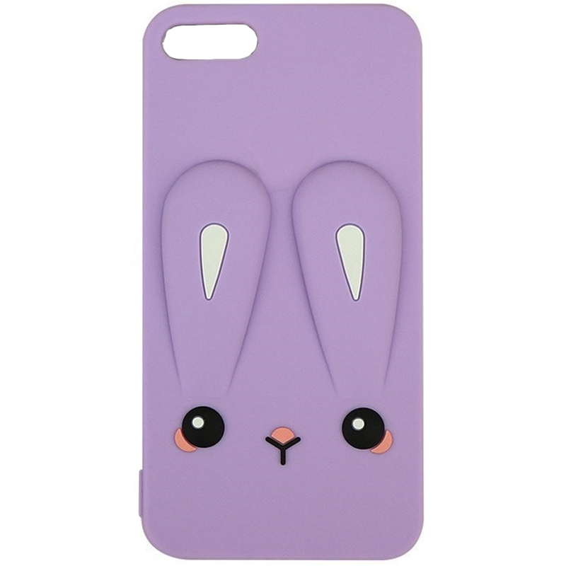 Силиконовая накладка 3D Child Bunny для Apple iPhone 5/5S/SE