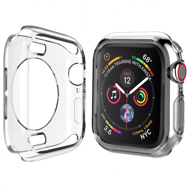 Чехол TPU прозрачный 360 для Apple Watch 44mm