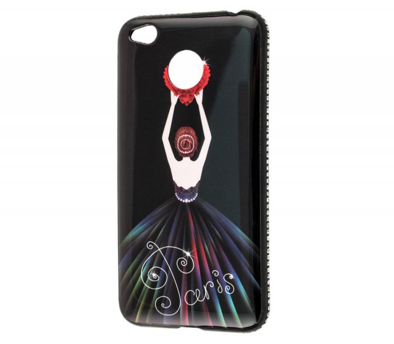 TPU чехол Magic Girl со стразами для Xiaomi Redmi 4X