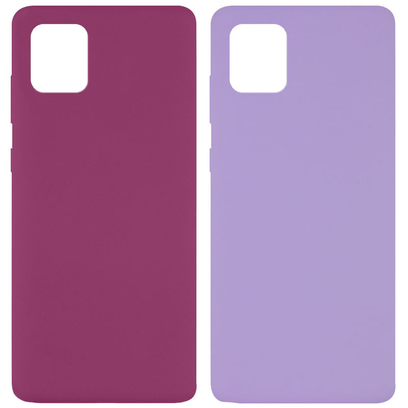 Чехол Silicone Cover Full without Logo (A) для Samsung Galaxy Note 10 Lite (A81)