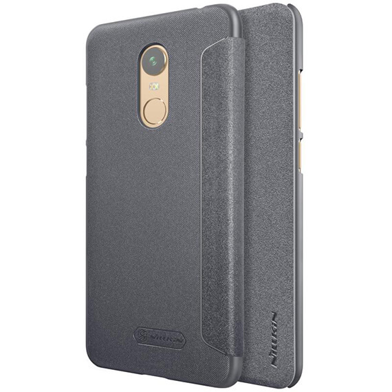 Кожаный чехол (книжка) Nillkin Sparkle Series для Xiaomi Redmi 5 Plus / Redmi Note 5 (SC)