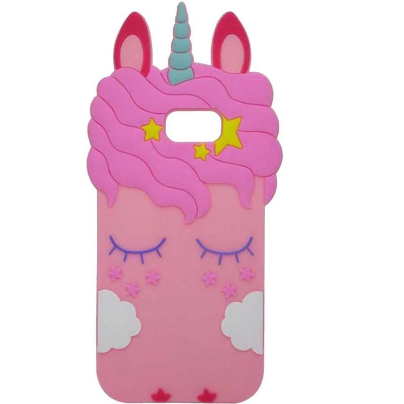 Силиконовая накладка 3D Little Unicorn для Samsung A720 Galaxy A7 (2017)