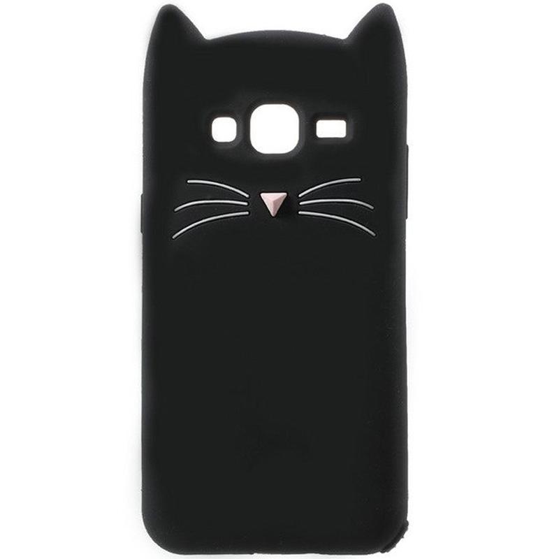 Силиконовая накладка 3D Cat для Samsung J710F Galaxy J7 (2016)
