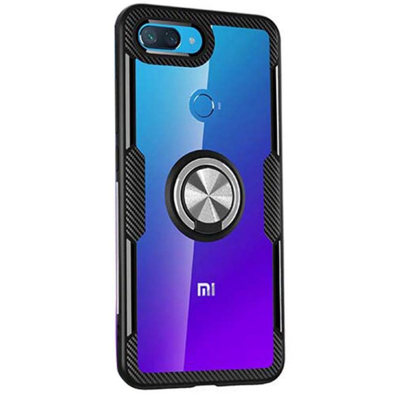 TPU+PC чехол Deen CrystalRing под магнитный держатель для Xiaomi Mi 8 Lite / (Mi 8X)