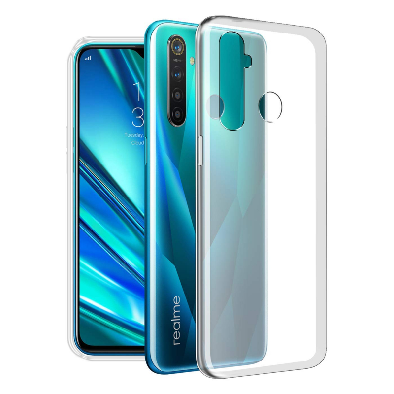 TPU чехол Epic Transparent 1,0mm для Realme 5 Pro