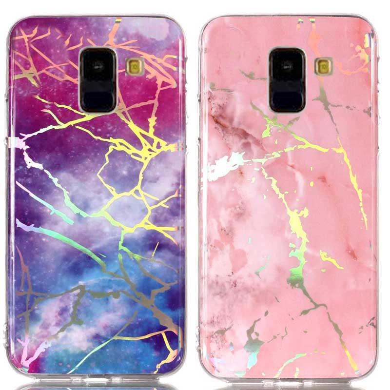 TPU чехол Marble Series для Samsung A730 Galaxy A8+ (2018)