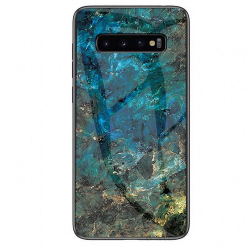 TPU+Glass чехол Luxury Marble для Samsung Galaxy S10+