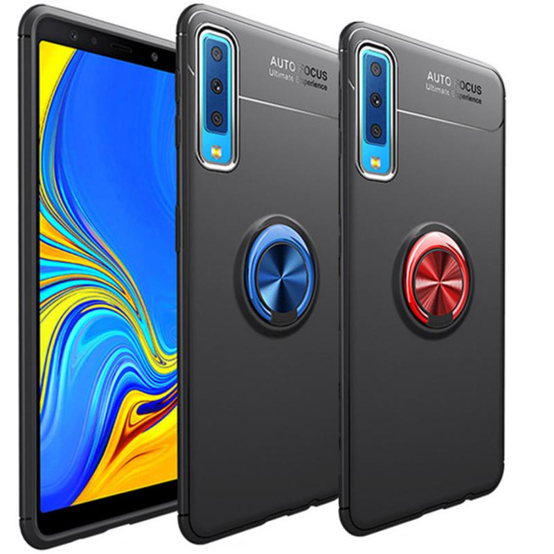 TPU чехол Deen ColorRing под магнитный держатель для Samsung A750 Galaxy A7 (2018)