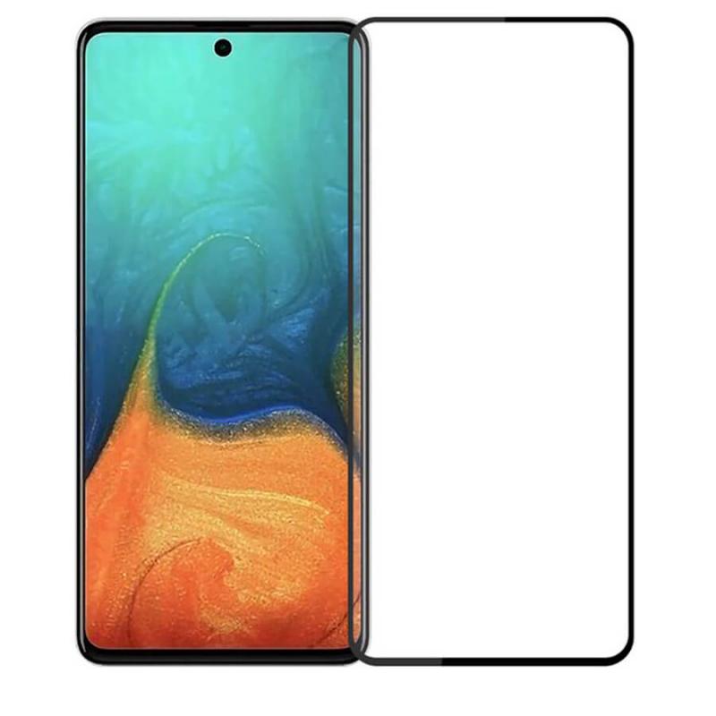 Гибкое защитное стекло Ceramics (full glue) (без упак.) для Samsung Galaxy A71