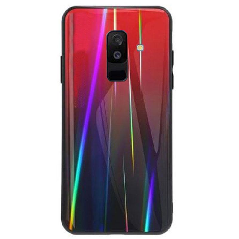 TPU+Glass чехол Gradient Aurora для Samsung Galaxy J8 (2018)