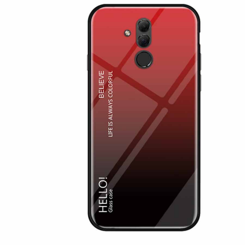 TPU+Glass чехол Gradient HELLO для Huawei Mate 20 lite