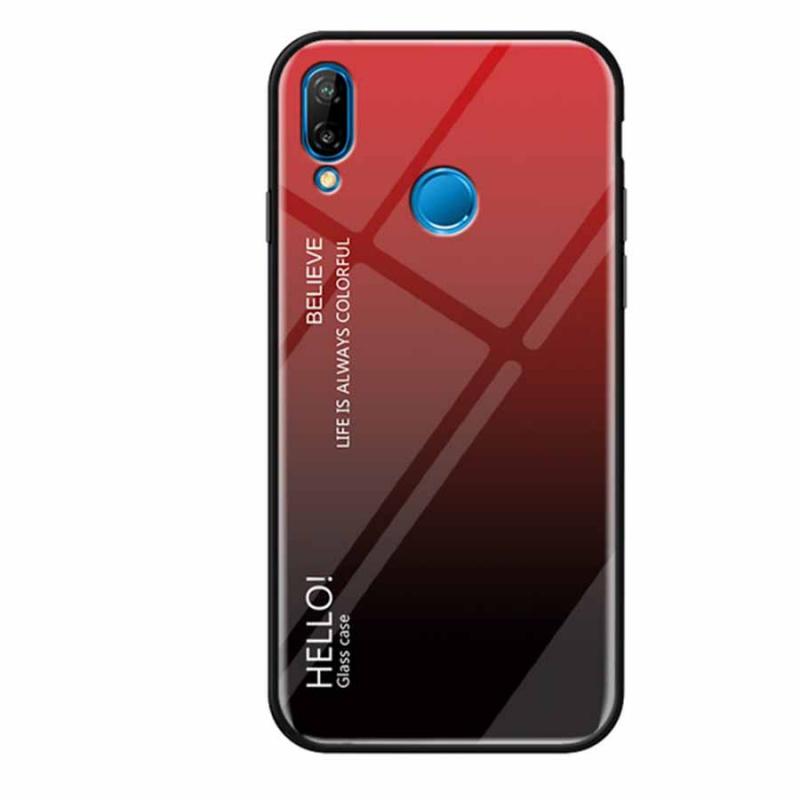 TPU+Glass чехол Gradient HELLO для Huawei P Smart+ (nova 3i)