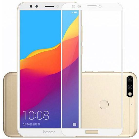 Защитное цветное стекло Mocolo (full glue) на весь экран для Huawei Y7 Prime (2018) / Honor 7C pro