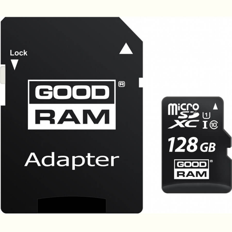 Карта памяти GoodRam microSDXC UHS-1 128 GB Class 10 + SD adapter