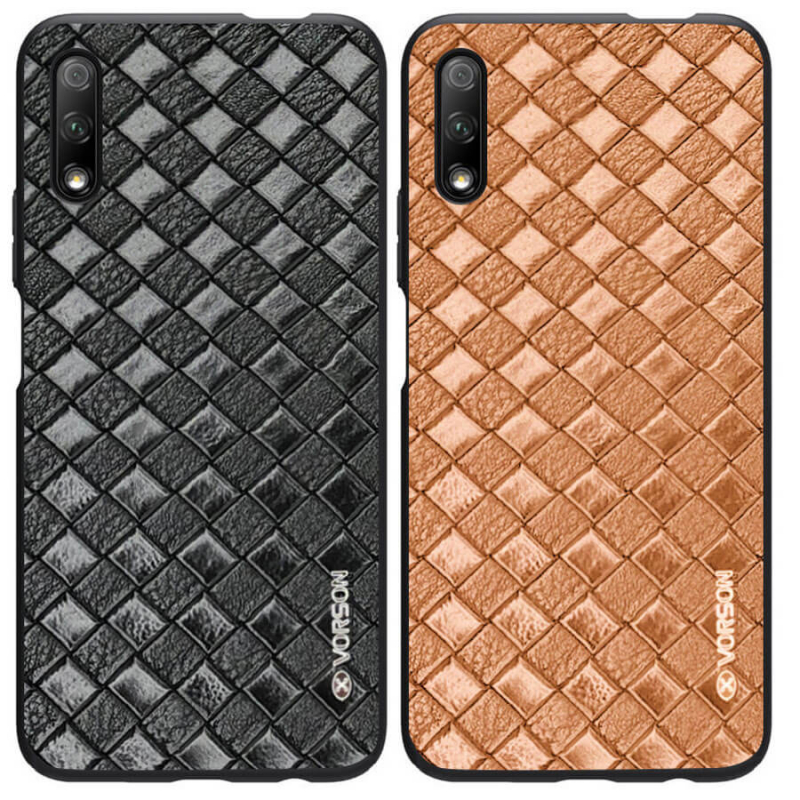 Кожаная накладка VORSON Braided leather series для Huawei P Smart Pro / Honor 9X (China)