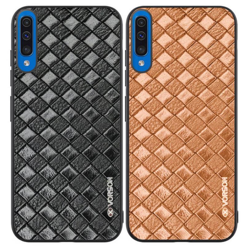 Кожаная накладка VORSON Braided leather series для Samsung Galaxy A50 (A505F) / A50s / A30s