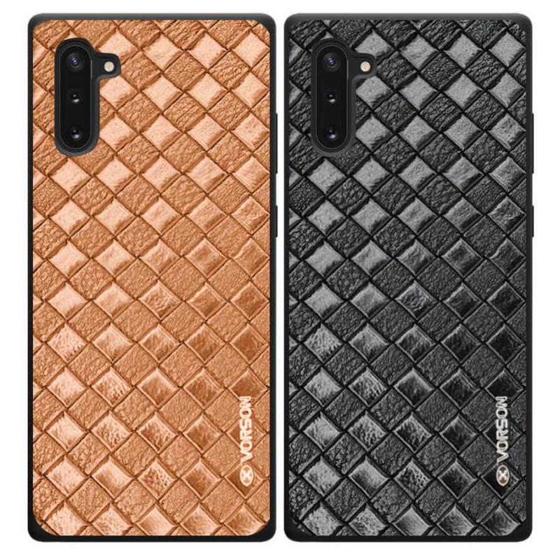 Кожаная накладка VORSON Braided leather series для Samsung Galaxy Note 10