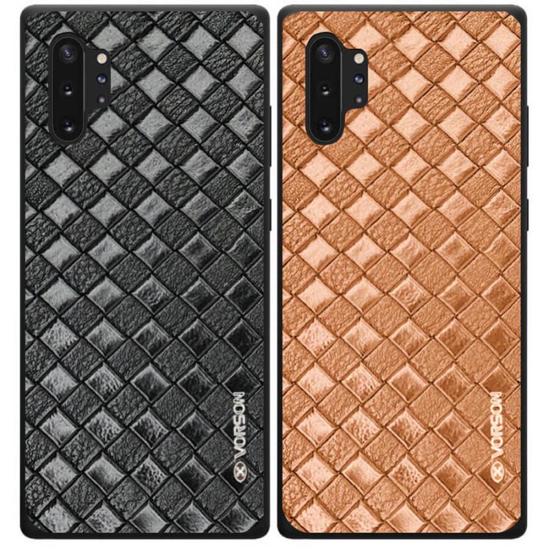 Кожаная накладка VORSON Braided leather series для Samsung Galaxy Note 10 Plus