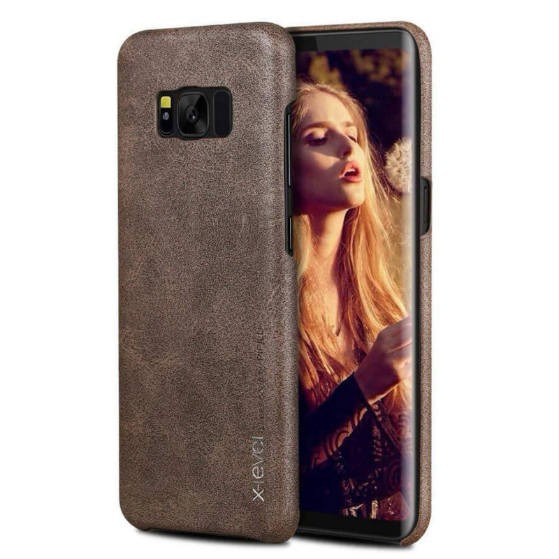 Кожаная накладка X-Level Vintage Series для Samsung G955 Galaxy S8 Plus