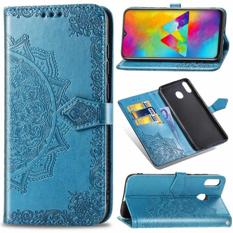 Кожаный чехол (книжка) Art Case с визитницей для Samsung Galaxy A20 / A30