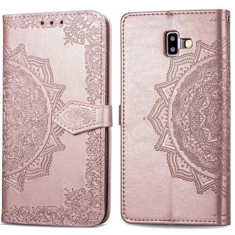 Кожаный чехол (книжка) Art Case с визитницей для Samsung Galaxy J6+ (2018) (J610F)