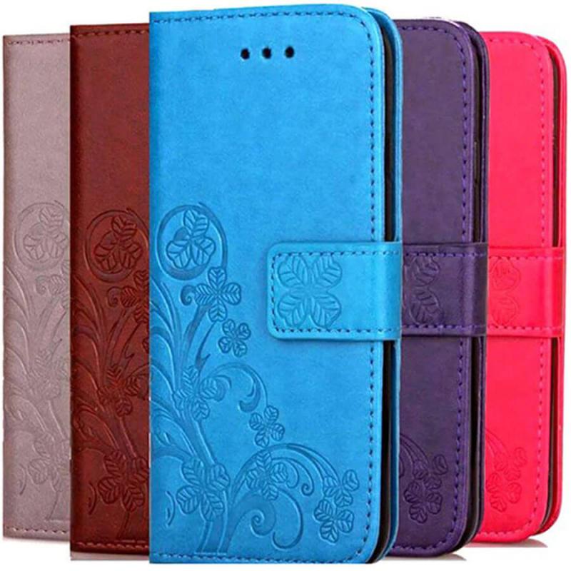 Кожаный чехол (книжка) Four-leaf Clover с визитницей для Samsung Galaxy A70s