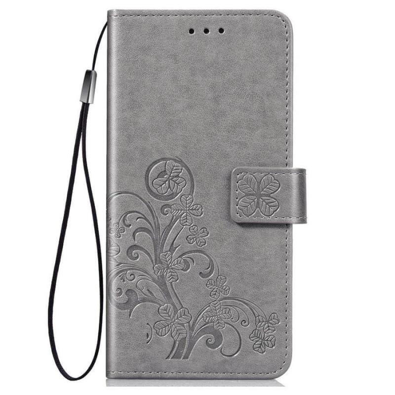 Кожаный чехол (книжка) Four-leaf Clover с визитницей для Samsung Galaxy Note 10 Lite