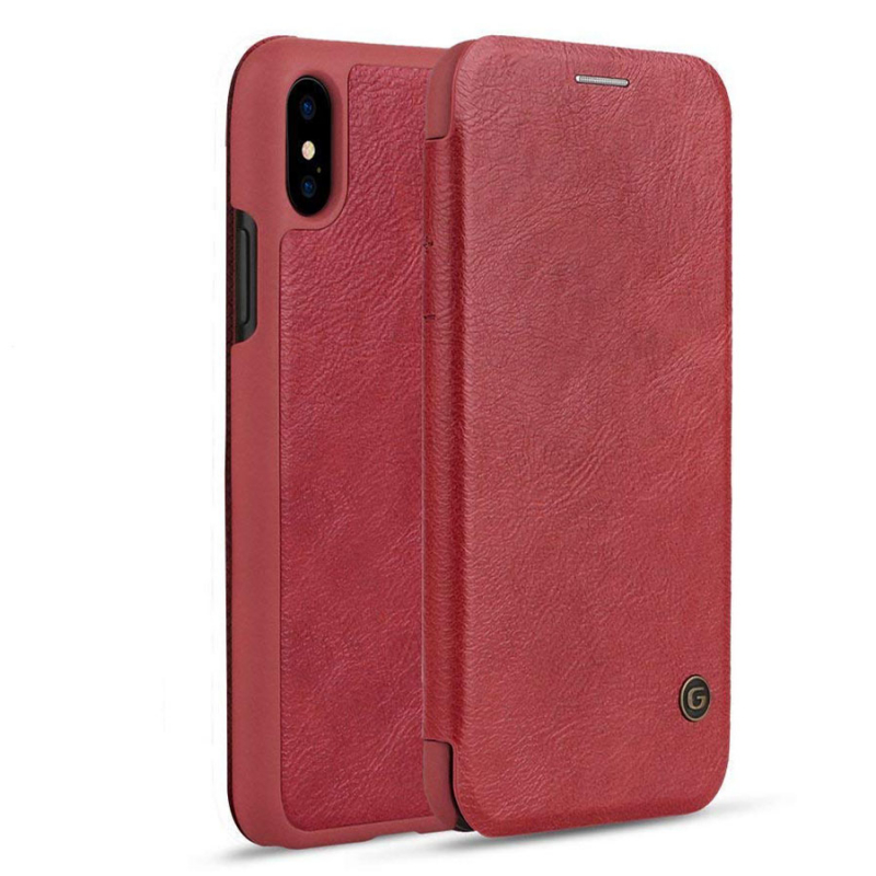 "Кожаный чехол книжка G-Case Vintage Business Series для Apple iPhone XR (6.1"")"