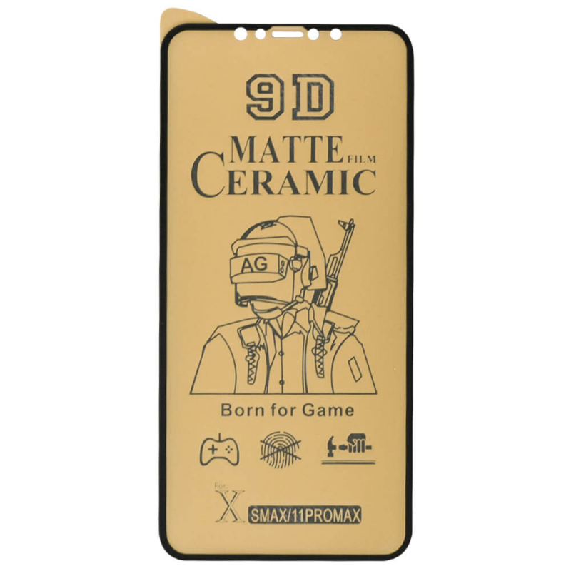 "Защитная пленка Ceramics Matte 9D для Apple iPhone 11 Pro Max (6.5"") / XS Max"