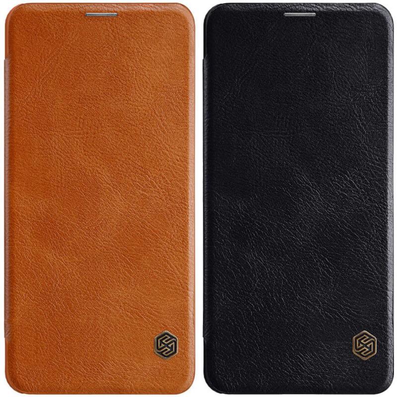 Кожаный чехол (книжка) Nillkin Qin Series для Samsung Galaxy A01